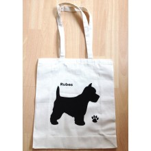 Personalised Dog Cotton Tote Bag