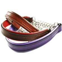 Padded Leather Half Check Collars