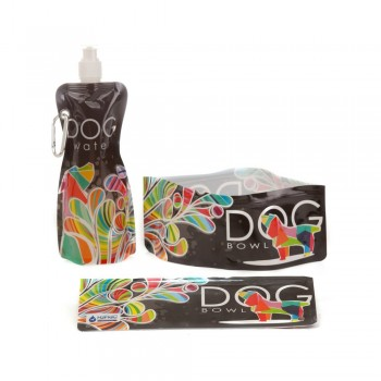 H2FidO Travel Dog Bowls and Bottle - Rainbow Rover