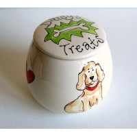 Personalised Dog Treat Jar with a Portrait of your Dog