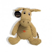 Doris the Natural Donkey Soft Dog Toy
