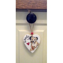 Personalised Ceramic Handpainted Dog Decoration