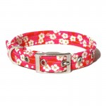 Liberty Print Flowers on Pink Dog Collar
