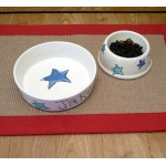 Personalised Ceramic Dog Bowl with Stars