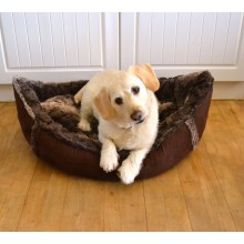 Boat Shaped Faux Fur Dog Bed