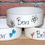Personalised Ceramic Whimsical Dog Bowls